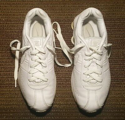 brand new 98cf3 78595 Nike Shox   309354-113 Men Athletic Sneakers Us   7.5 M Solid White Leather