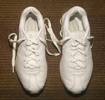 brand new c07d9 38b4d Nike Shox   309354-113 Men Athletic Sneakers Us   7.5 M Solid White Leather