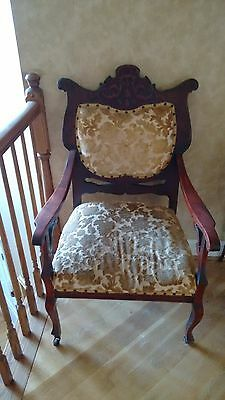 Beautiful French Louis XIV Chair with Arms, Antique