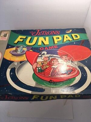 Vintage The Jetsons Fun Pad Game 4331 Milton Bradley 1963 Hanna Barbara