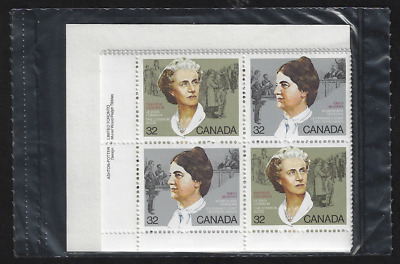 Canada — Matched Set of Plate Blocks — Canadian Feminists #1048a — MNH