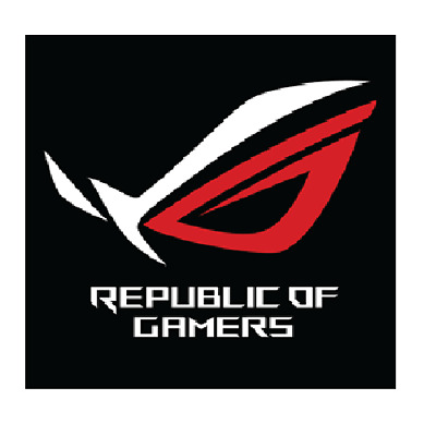Asus Republic of Gamers Silver Chrome Sticker 29 x 26.5mm ROG
