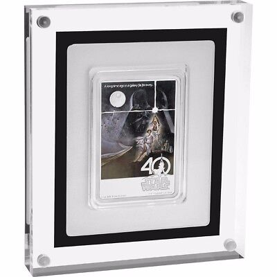 RARE 2017 STAR WARS 40th ANNIVERSARY Poster Coin 1 oz Silver SOLD OUT - 4 Avail