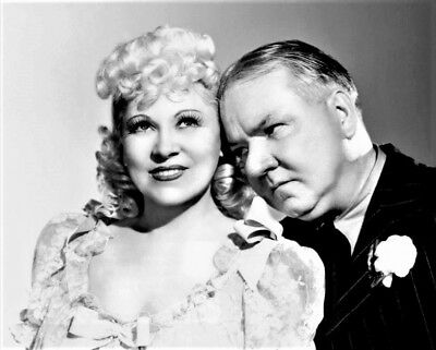 Mae West and W.C. Fields in a promotional photo for My Little Chickadee , 1940