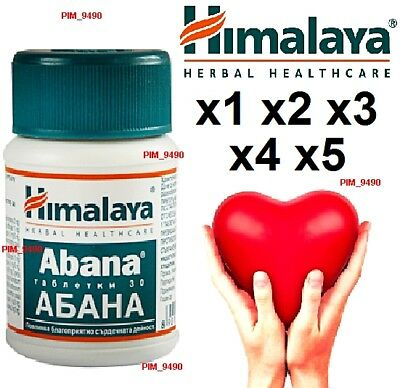 HIMALAYA Herbal ABANA Protect your Heart! Anti-stress Natural Remedies 30 tabs