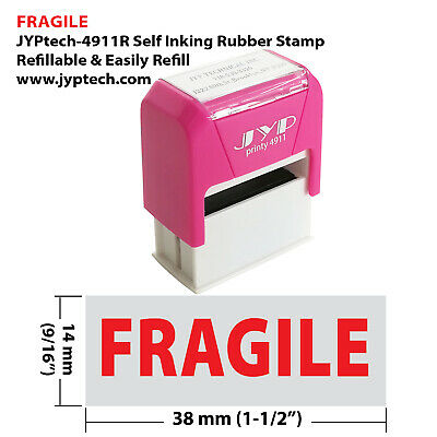 Fragile JYP 4911R Self Inking Rubber Stamp Red Ink