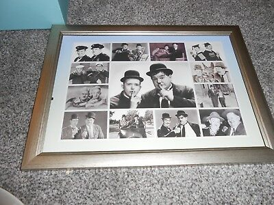 Laurel and Hardy a4 framed picture