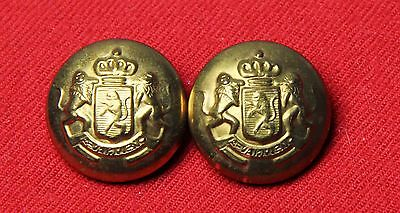 Two Mens Vintage Waterbury Blazer Jacket Coat Buttons Gold Brass
