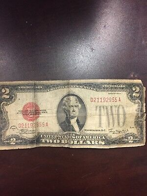 1928 series $2 Two Dollar Red Seal Note Bill US Currency More than (20) VG-VF