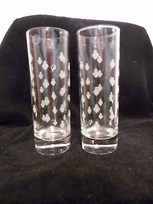 COURVOISIER TALL GLASS CV MADE IN FRANCE TALL set 4