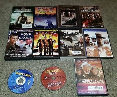 12 DVD Lot Stealth Windtalkers Disappearances The Good The Bad & The Ugly + MORE