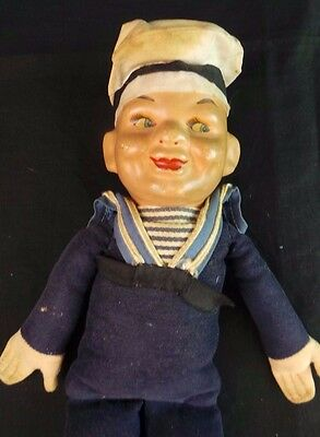 Vintage Norah Wellings Celluloid Sailor Doll