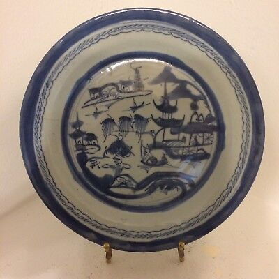 Qing Chinese Export Blue White Plate