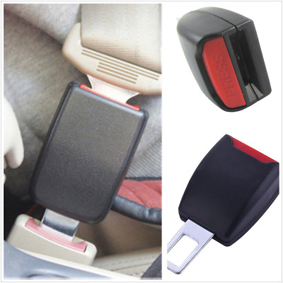 2PCS Car Safety Buckle Insert Clips Seat Belt Extender Extention Alarm Stopper