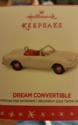 2016 Hallmark Miniature Ornament Dream Convertible NIB NEW IN BOX