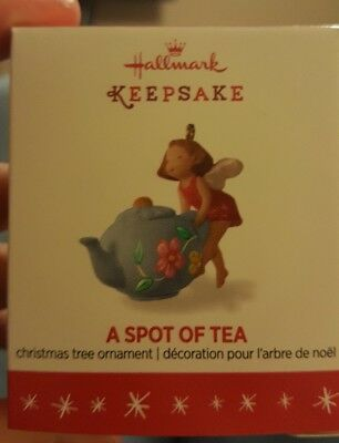 2016 Hallmark Miniature Ornament A Spot of Tea Teapot Fairy Pot NIB NEW IN BOX