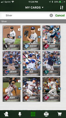 17 Topps BUNT [Digital Card] SERIES 1 SILVER BASE 5x Boost Singles