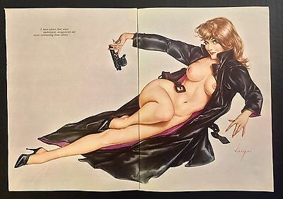 "1966 Pin-up Girl by Alberto Vargas Original Playboy Print 11 x 16 ""Undercover"""