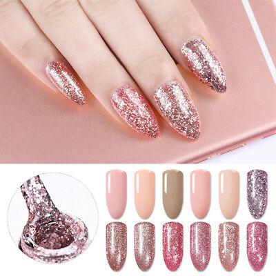 5ml Born Pretty Rose Gold Gel Glitter Shining Soak Off UV LED Gel Polish Varnish