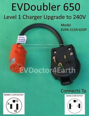 EVSE Level 2 upgrade 2x faster for Bolt Volt Fiat Chrysler Ford, EVDoubler 6-50