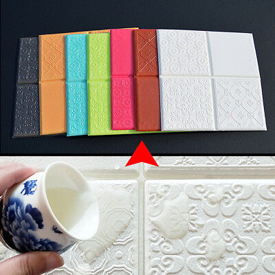 3D Colorful Brick Wall Sticker PE Foam Self Adhesive DIY Wallpaper Panels Decal