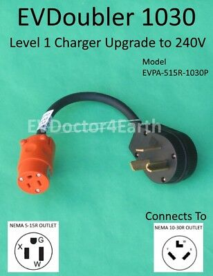 EVSE Level 2 upgrade 2x faster for Bolt Volt Fiat Chrysler Ford, EVDoubler 10-30
