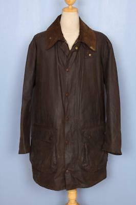 Vtg 60s BARBOUR Northumbria 'Gold Label' WAX Jacket Green Size XXL