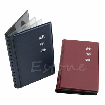 Portable 12 Coins Money Penny Holders Storage Album Book Collecting Pockets