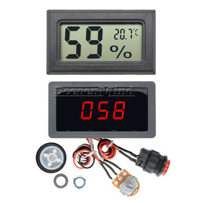 DC12V 24V Max 8A 6-30V  Motor PWM Speed Controller With Digital Display Switch