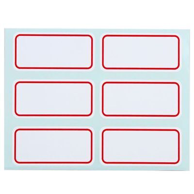 White Name Stickers Price Stickers Self Adhesive Name Number Tags Label Blank