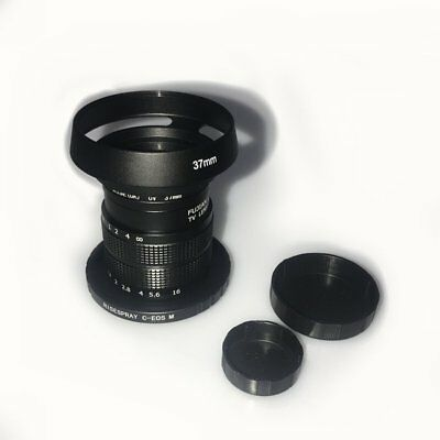 Fujian 35mm f/1.7 CCTV cine lens & Filter for Canon EOS M EF-M Mirrorless Camera