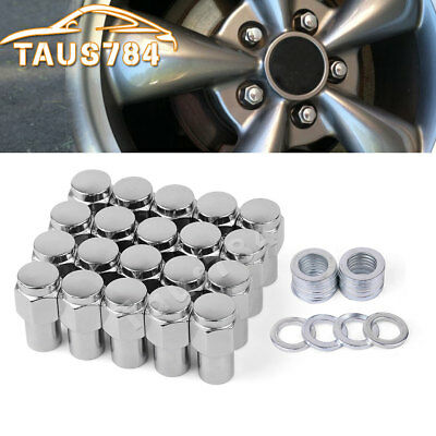 20 Black Aluminum 12x1.5 Extended Lug Nuts Open End for Ford Escape Focus Fusion