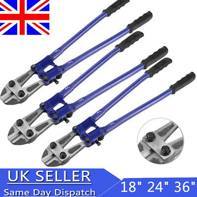 """18 24 36"""" Heavy Duty Carbon Steel Cable Wire Bolt Cutter Cropper Tool Uk"""