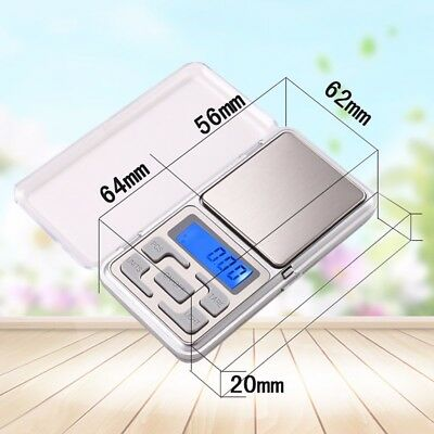 100/200/ 500g x 0.1g 0.01g Digital Pocket Scale Jewellery Balance gram Scales W
