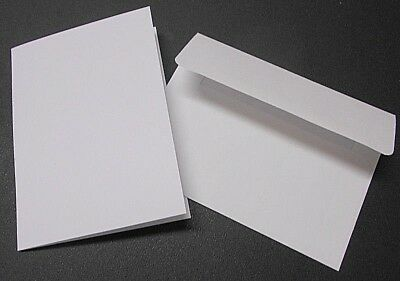 DIY Greeting Card  - WHITE BLANK CARDS x 8 plus 8 WHITE  ENVELOPES