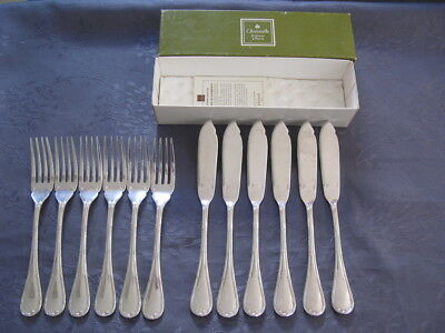 Goldsmith Christofle Ribbons 6 Cutlery A Fish Recent Silver Metal