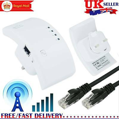 Wireless Repeater 300Mbps WiFi Signal Range Extender Router Booster Sky WPS UK