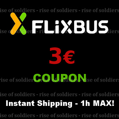 ➤8x5€ Coupon FlixBus - Shipping Max 1h! - Gutschein Bus Discount Voucher