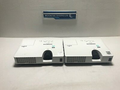 Hitachi Cp-X2021Wn Joblot Of 2 Lamp Hours Below 500 Image Dull Shade - Ref S103
