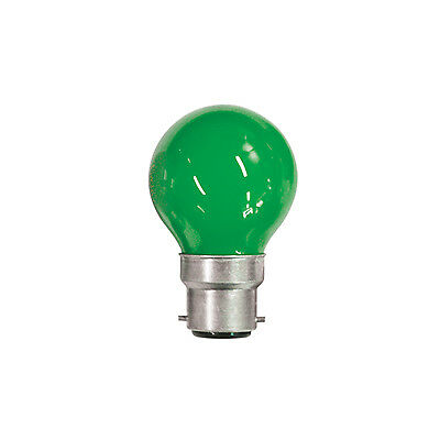 15W Coloured Carnival Lamp With BC Cap (Colour Green) Golfball DJ DISCO KARAOKE