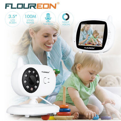 "Color TFT 3.5 "" 2.4 GHz Wireless Baby Nanny Monitor Night Vision Lullabies Radio"