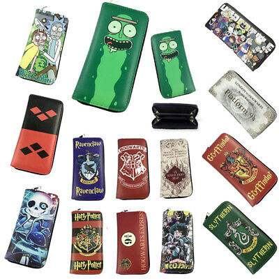 Rick and Morty Long Wallet Zipper PU Leather Large Purse DC Comics Clutch Pickle