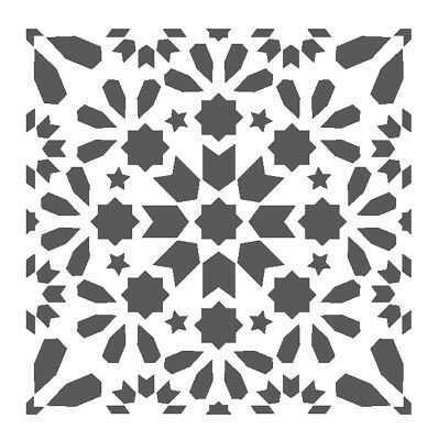 Wall Moroccan Reusable Tile Stencil T0058 for Wall Decor Furniture Floor Craft