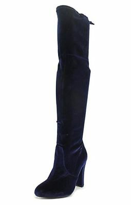 3575410552d STEVE MADDEN WOMEN S Gorgeous Velvet Navy Knee-High Suede Equestrian Boot -  7M -  100.00