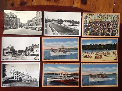 Antique Postcards, New Hampshire, Lot of 9, New Castle, Exeter, Winnipesaukee