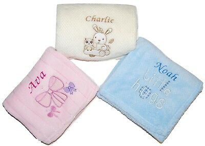 Personalised Baby Blanket Embroidered With Name