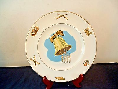 WS George US Armed Forces Military Plates LIberty Bell American Ceramic 22K Gold