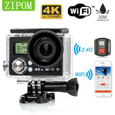 Ultra HD 4K 1080p WIFI Remote Screen Sports Action Video Camera For Go Pro Acces