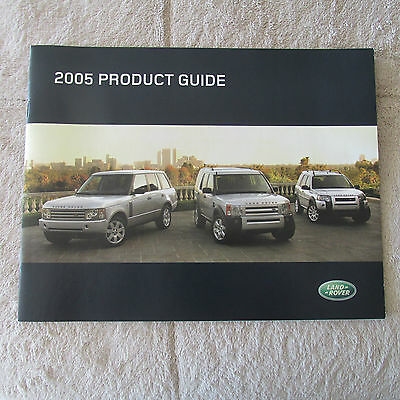 Land Rover 2005 Product Guide Brochure - New