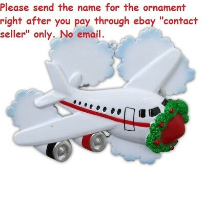 Honeymoon Travel Vacation First Flight Trip Personalized Christmas Tree Ornament